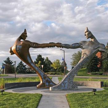 Popular Modern Garden Decor Abstract Art Metal Sculpture For Sale