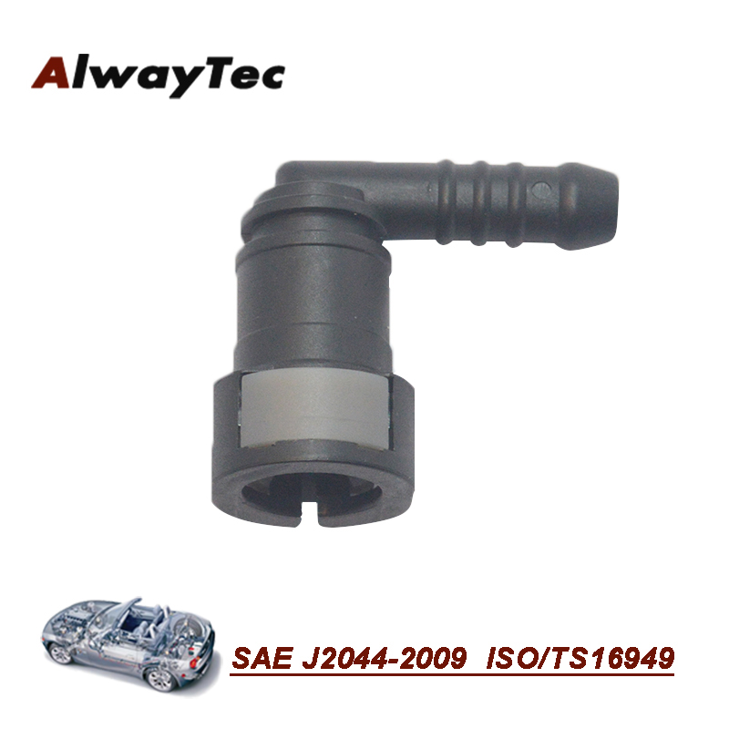 Hot sell 2 button 10.3mm nylon fuel line quick connector, new saving fuel hose connectors, fuel connector