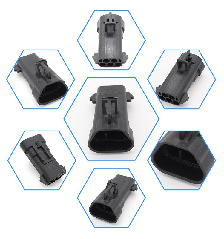 5 Pin Waterproof Male Terminal Plug Type Connector