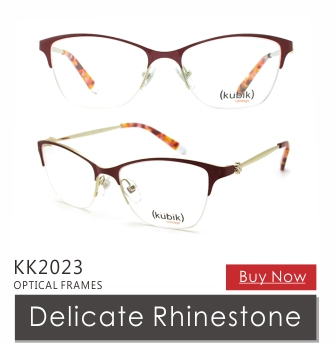 b9886534947 KK2014 Italian New Trend Red Metal Optical Glasses Eyewear Eyeglass  Wholesale Kubik Brand Name Women Spectacle
