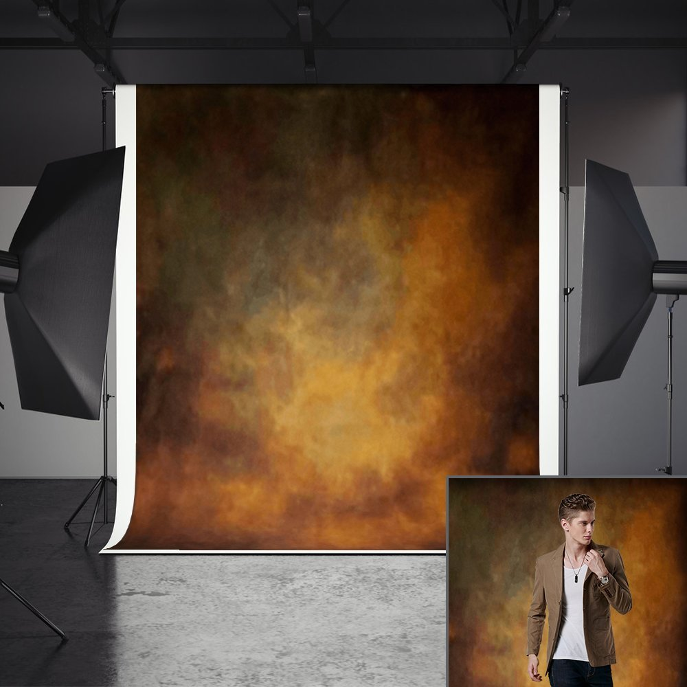 Abstract Backdrops, MeeQee 5ft(W)x7ft(H) Brown Abstract Photography Backdrops Pictorial Cloth Portrait Photography Studio Background Screen for Photo Video, MQ-CO3