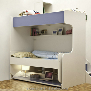 Children Bunk Folding Bed With Study Table ,Kid Bed Furniture