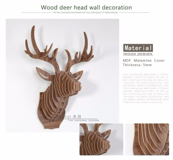 Moose Wall Decor wholesale colourful deer creative christmas decorations diy wood