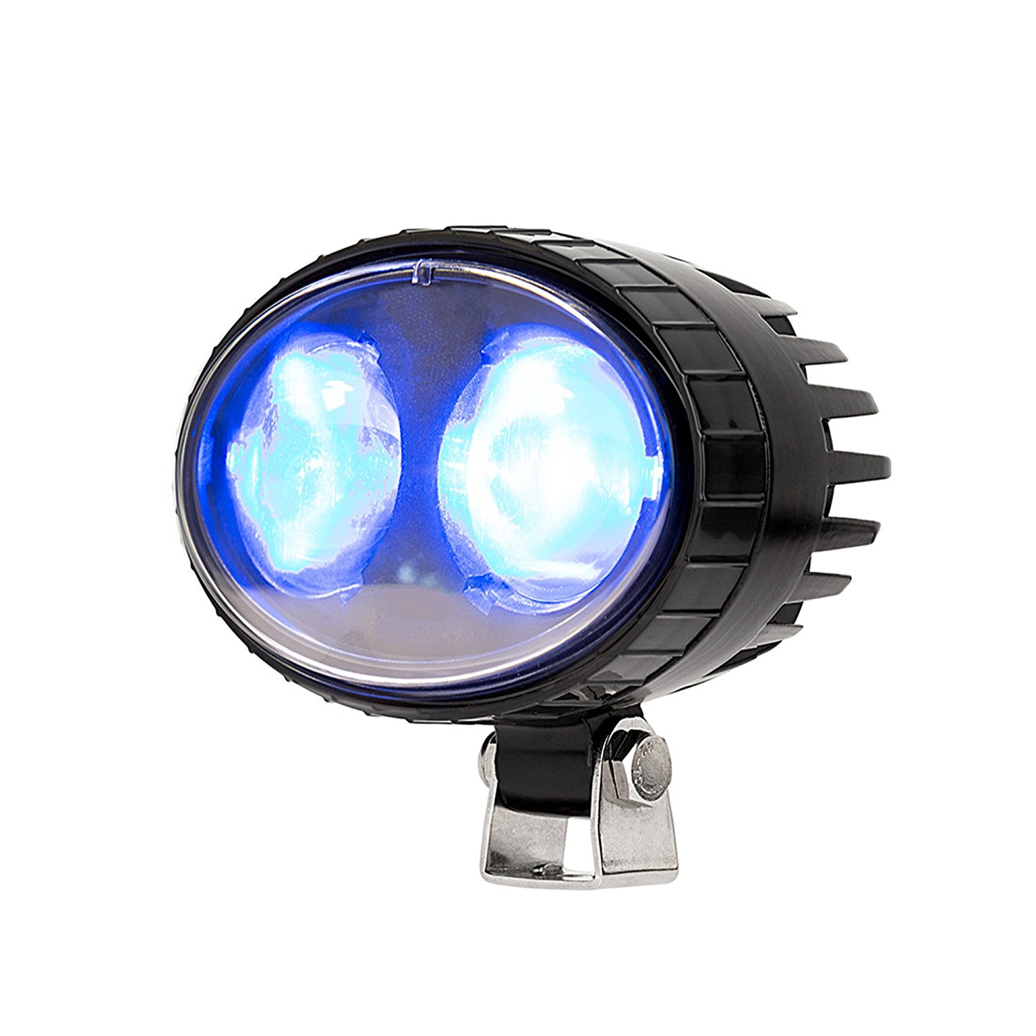 Forklift Blue LED Safety Warning Light, Blue Spot Forklift Pedestrian Warning Lighs,Forklift Blue Safety Light 6W 10-80V 12Months Warranty IP68(Blue)