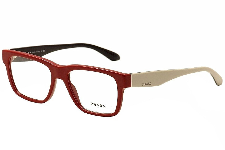 0284e687e83 Get Quotations · Prada Voice Eyeglasses PR16RV TKS1O1 Red 51 16 140