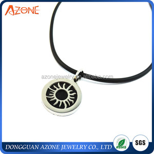 Round Silver Imitation Charm Stainless Steel Sun Pendant Jewlery