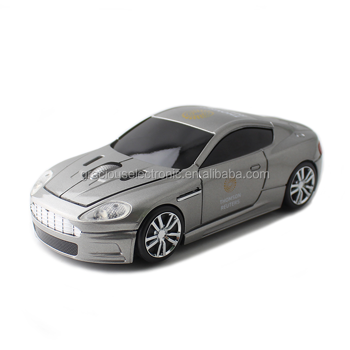 wireless car shape mouse with custom logo printing for promotion
