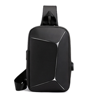 One single shoulder sports Oxford backpack with USB port