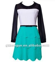 Peplum long sleeve 2012 fashion clothing manufacturers