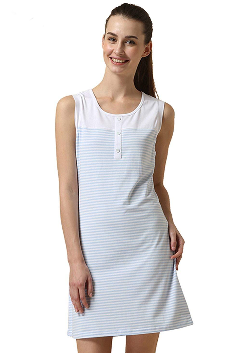 lady olga Poly Cotton Sleeveless Nightdress Summer 24317