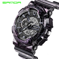Mens Watches 2018 SANDA Fashion Watch Men Style Military Waterproof Wristwatches Luxury Analog Digital Shock Sports Watches