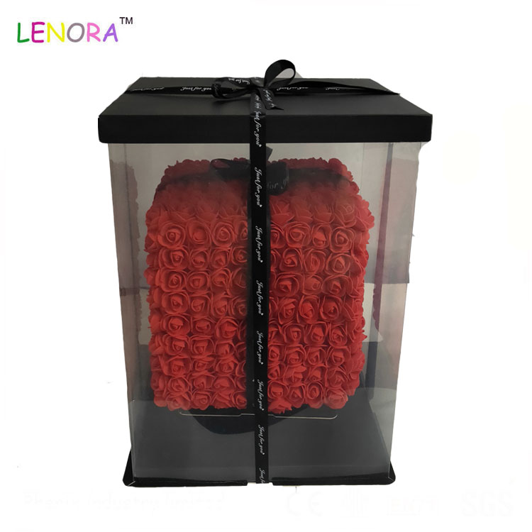 2019 Wholesale Flower Foam Cube Gift Toy , OEM Design Gift Foam Cube Box Of Valentine Stuffed Toy Colorful Stuff Plush