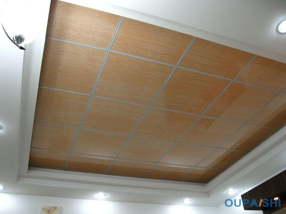 60x60 Easy Cleaning Pvc Drop Ceiling Tiles House Ceiling Design Waterproof Bathroom Wall Panels