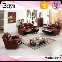 Luxury top cow leather furniture living room sofa set,quality and comfortable geuine leather sofa sets pictures at low price