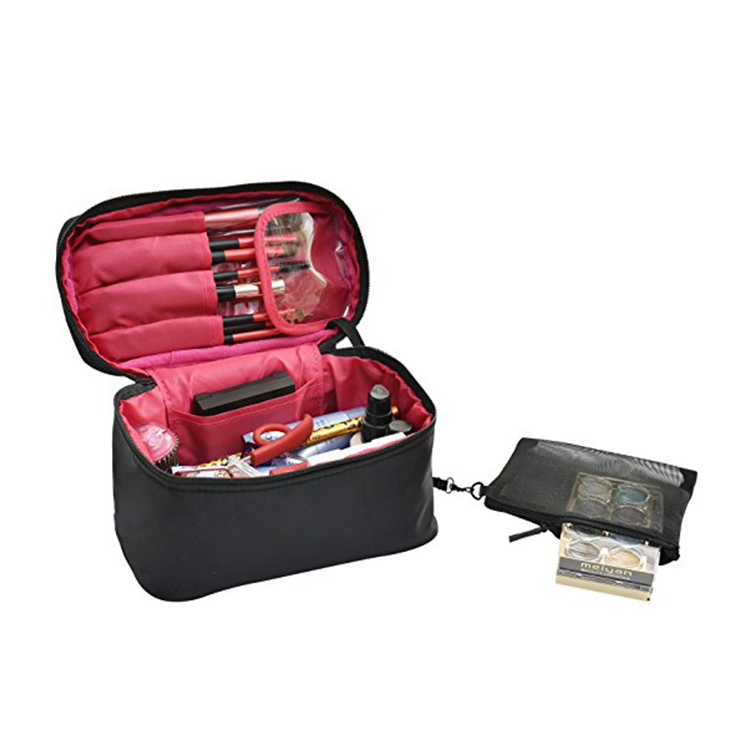 Pink Cosmetic Bag Travel Makeup Organizer Box Cosmetic Case