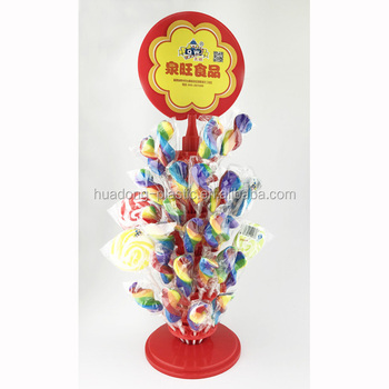 Plastic lollipop/candy display stand/sleeve