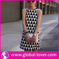 China Trendy Boutique Dress 2016 Summer Dress Girl Party Wear Western Dress