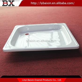 White High Quality Enameled Steel Shower Base