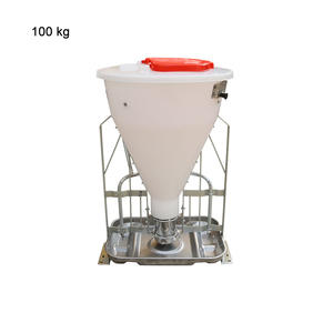 High strength resin barrel professional feeding equipment for pigs fattening feed trough farming equipment