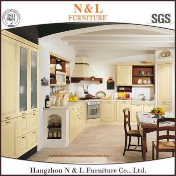 Modular Kitchen Cabinet Commercial Vinyl Wrapped Kitchen Cabinets With
