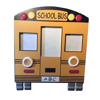 Baby Gift Wooden School Bus Picture Frames