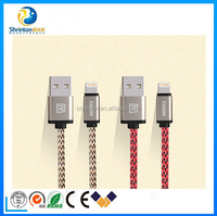 High Quality Remax 1M Nylon Braided USB Cable Fast charging sync Data Cable for iPhone5/5s/6/6s