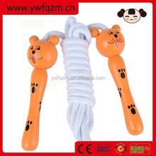 Wholesale wooden animal handle speed jump rope