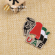 custom UAE metal lapel pin badges, Dubai magnet lapel pin for souvenir