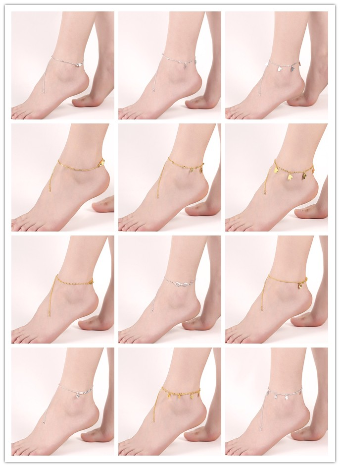 2017 wholesale 전통적인 인도 anklets 인도 금 anklets women anklets
