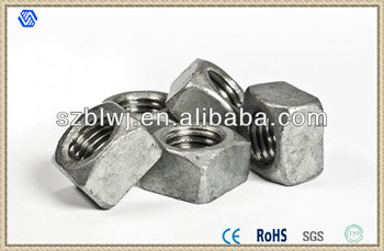 M5 Steel Square Nuts Din 557