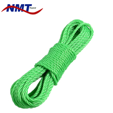 professional Monofilament twisted braided polyethylene rope 6mm