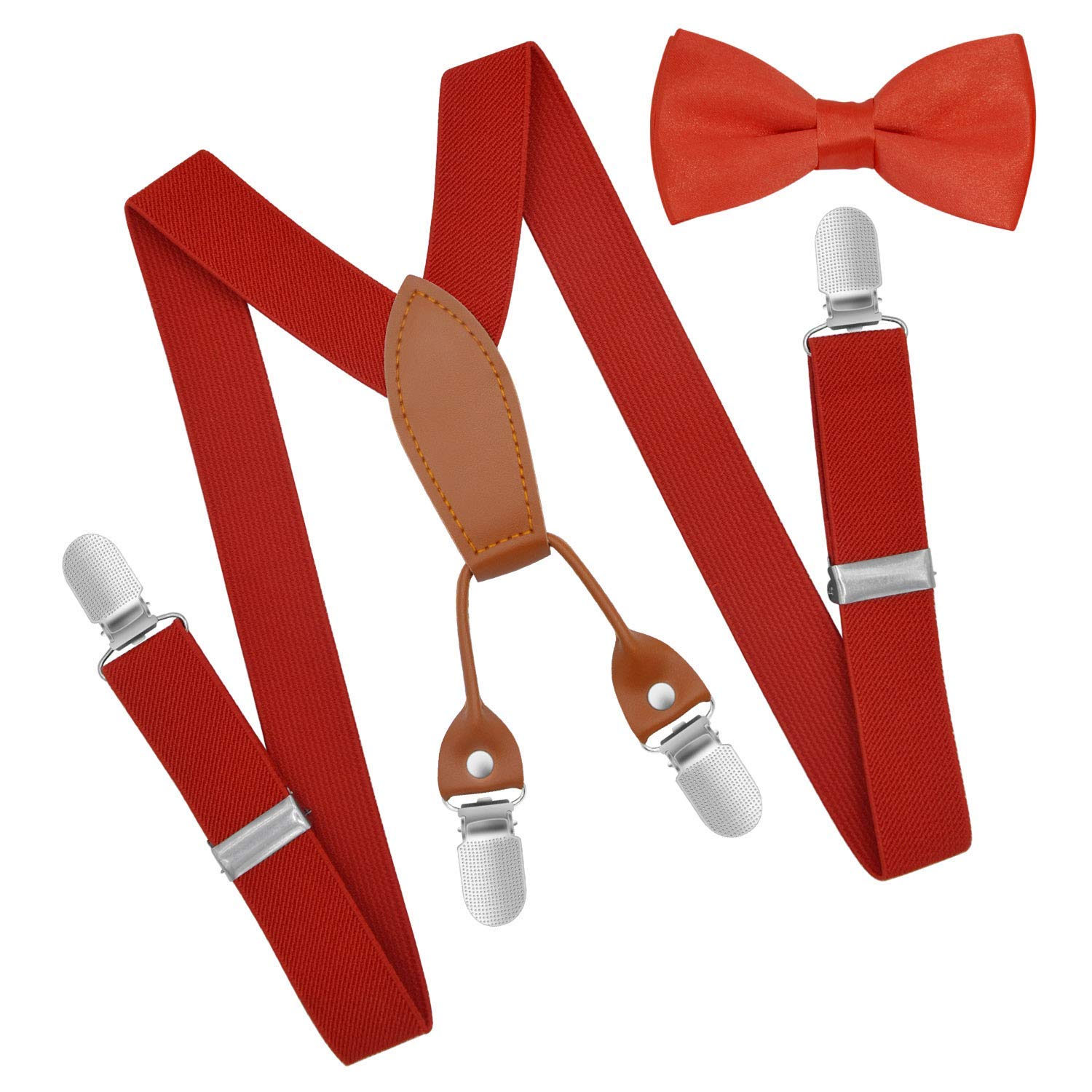 85d489a33fa Get Quotations · Brooben Child Kids Suspenders Bowtie Set - Adjustable  Length Suspender with Bow Tie Set for Boys