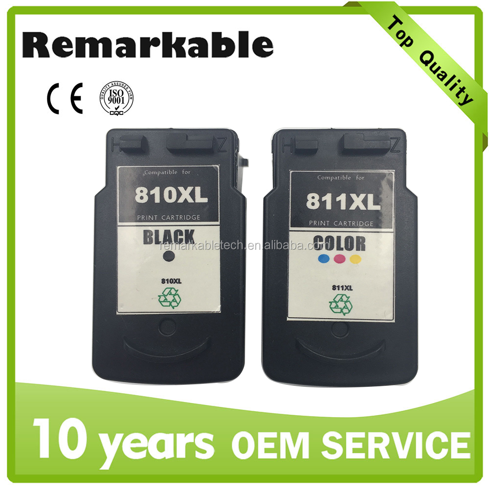 For Canon PG 810 CL 811 remanufactured ink cartridge for Canon MP245/ 258/ 268/ 276/ 486/ 496/ 328/ 338