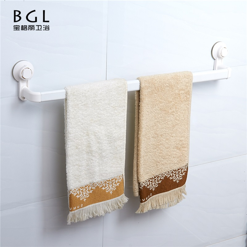 RS8809-24 No Drill Plastic Material Simple White ABS Material Stretchable Towel Bar With Cupule