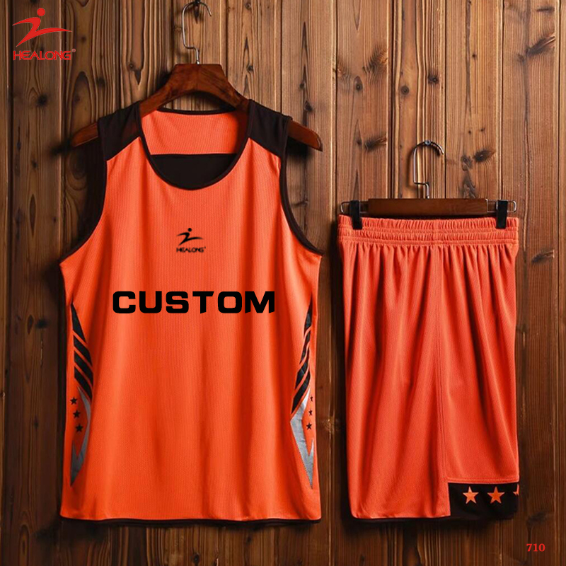 533e5088862 Custom Orange Black Hot Reversible Basketball Uniform Sublimation Basketball  Jersey