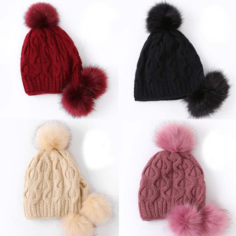 Beanie Hat With Two Balls, Beanie Hat With Two Balls Suppliers and  Manufacturers at Alibaba.com