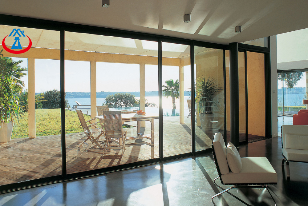 product-Large Double Tempered Glass Sliding Door Extension With Aluminum Sliding Patio Doors-Zhongta