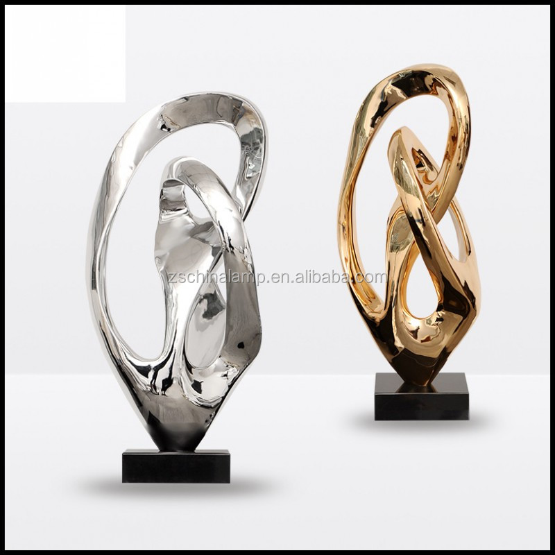 Professional Resin Abstract Lucky Craft With Gold And Silver Color For Home Decor Statues And Hotel Furniture Prices
