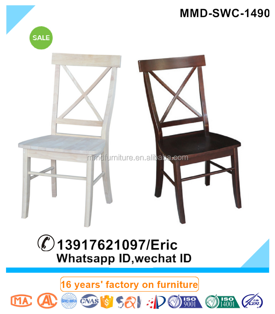 Manufacturer Supplies Quality Euro Style Timber X Back Chair