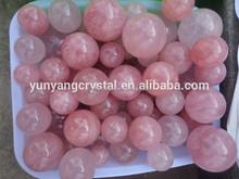 roca natural rosa cuarzo rosa cristal esfera de bola para la venta