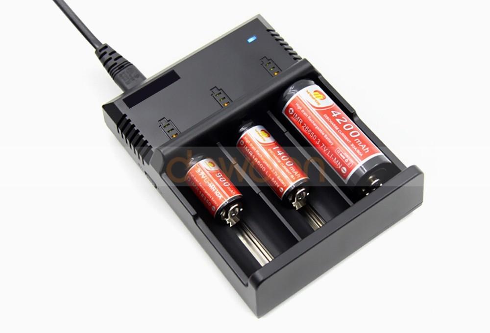 2 3 Aa Rechargeable Charger 3 Slot 18650 26650 Li Ion