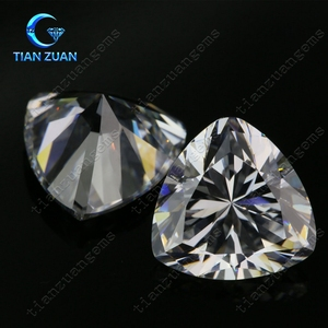 6A Fat-triangle shape Cubic Zirconia white color Synthetic Diamond gems for jewelry making CZ stone