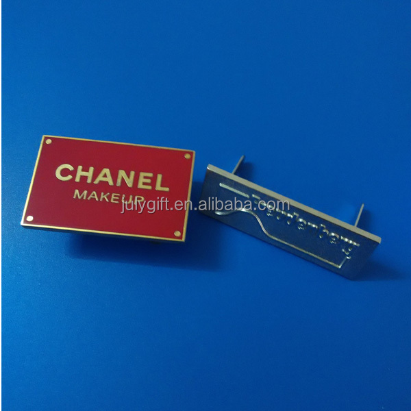 custom metal plates brand logos with pin