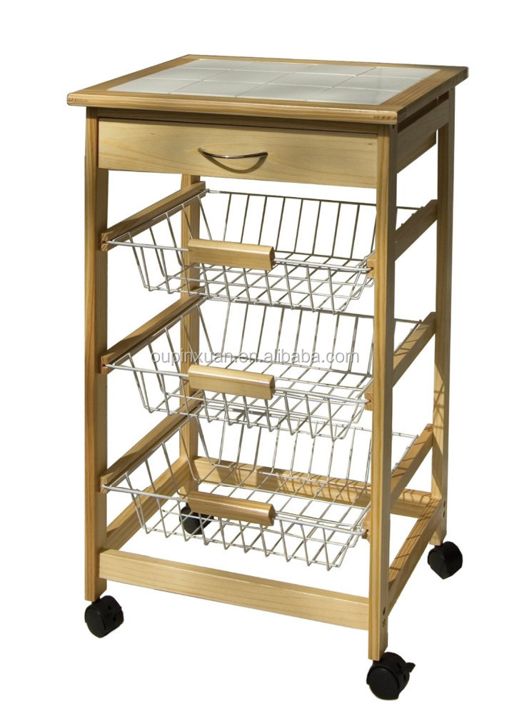 Foldable Kitchen Food Cart Bamboo Kitchen Trolley With Basket And Drawer    Buy Kitchen Trolley,Kitchen Cart,Food Cart Product On Alibaba.com