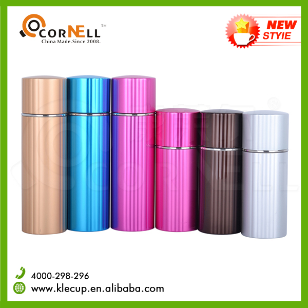 Keep cool 260/360ml new shape Stainless Steel vacuum thermo bottle with silicone strap Thermos vacuum flask