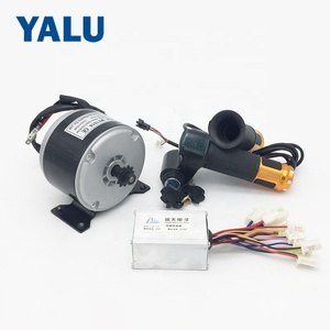 MY1016 24V 250W E-bike Conversion Kit With Electric Bike Permanent Magnet Brush DC Motor and Controller Wuxing Thumb Throttle