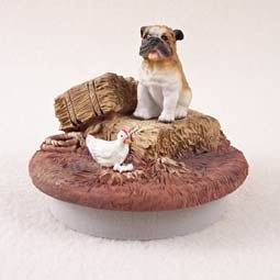 """Conversation Concepts Miniature Bulldog Candle Topper Tiny One """"A Day on the Farm"""" by Conversation Concepts"""