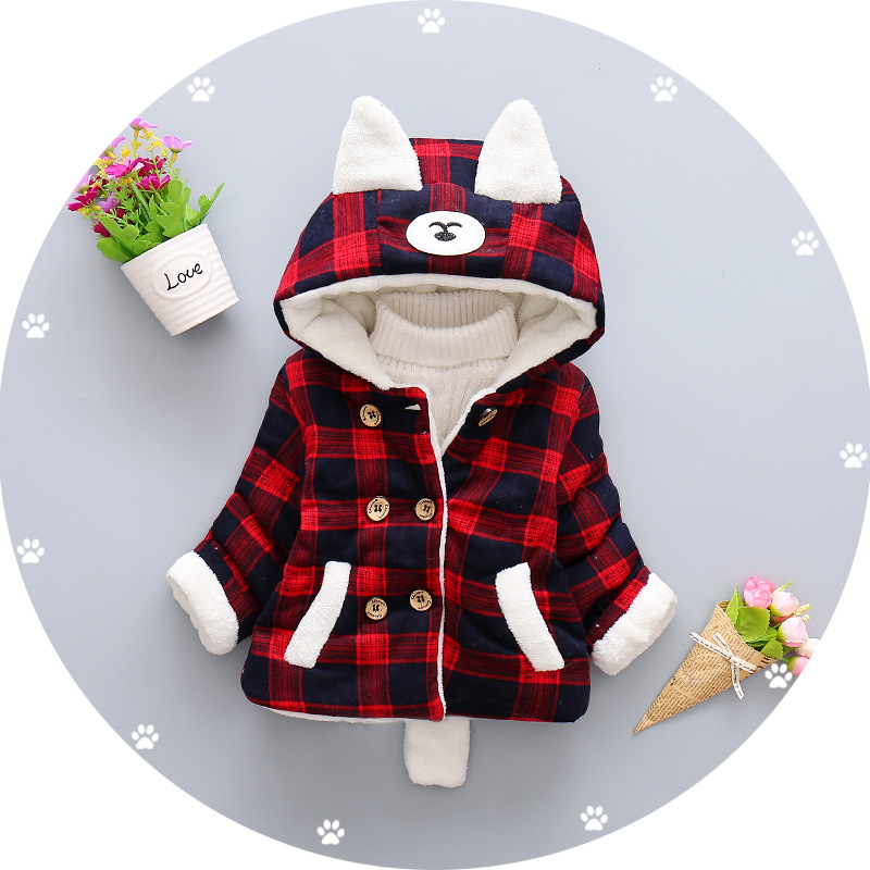wholesale high quality 1 year old baby clothes newborn baby girl cotton coat winter