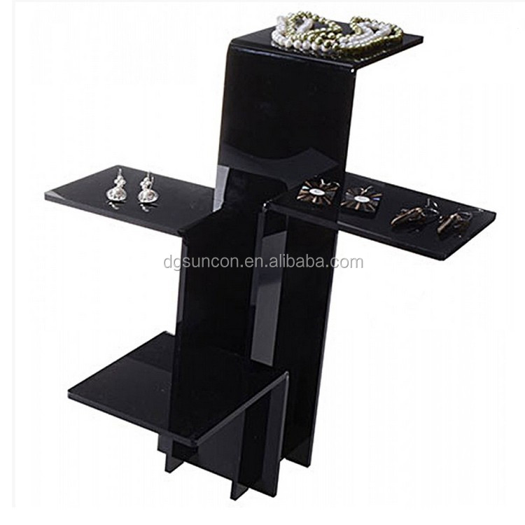 Black Acrylic Tabletop Display Risers Shelf Product On Alibaba