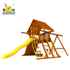 Playground Wood Playground Kids Outdoor Wooden Playground Swing Set With Slide